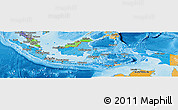 Political Shades Panoramic Map of Indonesia
