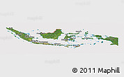 Satellite Panoramic Map of Indonesia, cropped outside