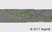 Satellite Panoramic Map of Indonesia, desaturated