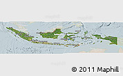 Satellite Panoramic Map of Indonesia, lighten