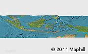 Satellite Panoramic Map of Indonesia