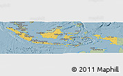Savanna Style Panoramic Map of Indonesia