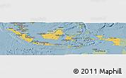 Savanna Style Panoramic Map of Indonesia