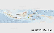 Shaded Relief Panoramic Map of Indonesia, lighten