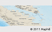 Shaded Relief Panoramic Map of Riau