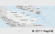 Silver Style Panoramic Map of Riau