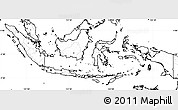 Blank Simple Map of Indonesia, no labels