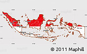 Flag Simple Map of Indonesia, flag centered