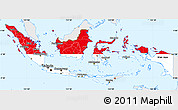 Flag Simple Map of Indonesia, single color outside
