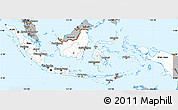 Gray Simple Map of Indonesia