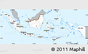 Gray Simple Map of Indonesia, single color outside