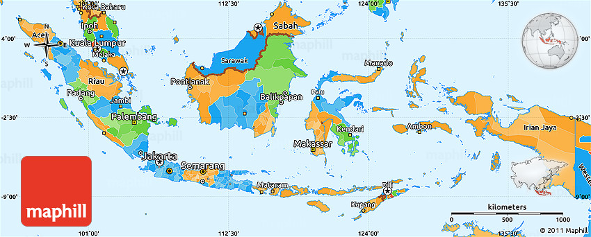 malaysia indonesia simple political map - photo #21