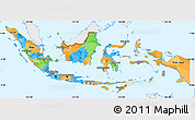 Political Simple Map of Indonesia, single color outside