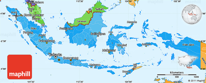 malaysia indonesia simple political map - photo #37