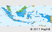 Political Shades Simple Map of Indonesia