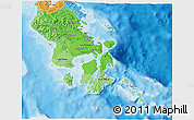 Political Shades 3D Map of South-East Sulawesi