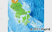 Political Shades Map of South-East Sulawesi