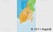 Political Shades Map of South Kalimantan