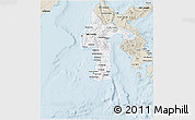 Classic Style 3D Map of South Sulawesi