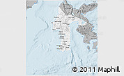 Gray 3D Map of South Sulawesi