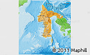 Political Shades 3D Map of South Sulawesi