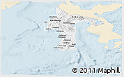 Classic Style Panoramic Map of South Sulawesi, single color outside