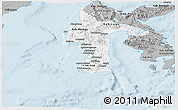 Gray Panoramic Map of South Sulawesi