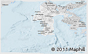 Silver Style Panoramic Map of South Sulawesi