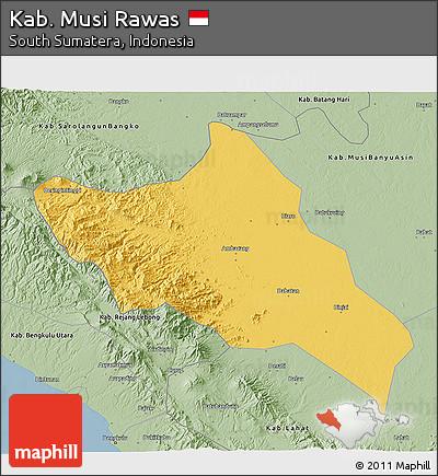 Free Savanna Style 3d Map Of Kab Musi Rawas