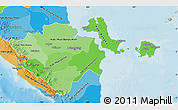 Political Shades Map of South Sumatera