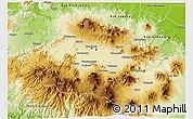 Physical 3D Map of Kab. Bandung