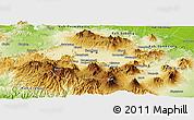 Physical Panoramic Map of Kab. Bandung