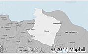 Gray 3D Map of Kab. Bekasi