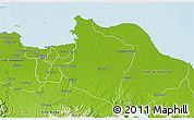 Physical 3D Map of Kab. Bekasi