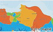 Political 3D Map of Kab. Bekasi