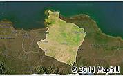 Satellite 3D Map of Kab. Bekasi, darken