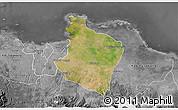 Satellite 3D Map of Kab. Bekasi, desaturated