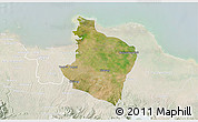 Satellite 3D Map of Kab. Bekasi, lighten