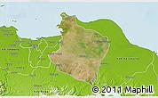 Satellite 3D Map of Kab. Bekasi, physical outside