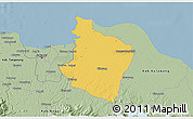 Savanna Style 3D Map of Kab. Bekasi