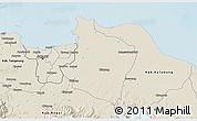Shaded Relief 3D Map of Kab. Bekasi