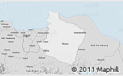 Silver Style 3D Map of Kab. Bekasi