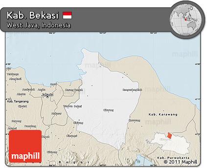 Free Classic Style Map of Kab Bekasi