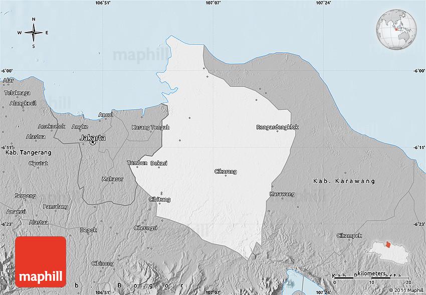 Gray Map of Kab Bekasi