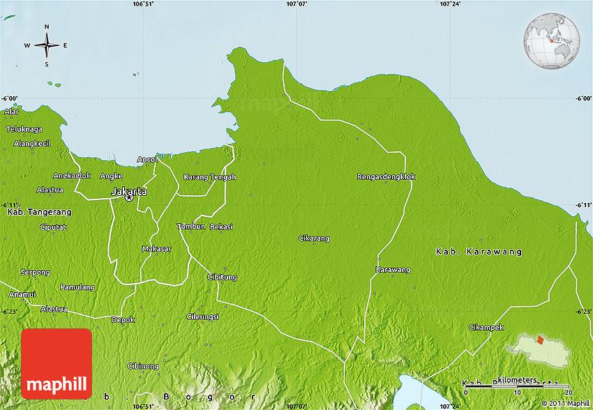 Physical Map of Kab Bekasi