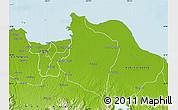 Physical Map of Kab. Bekasi
