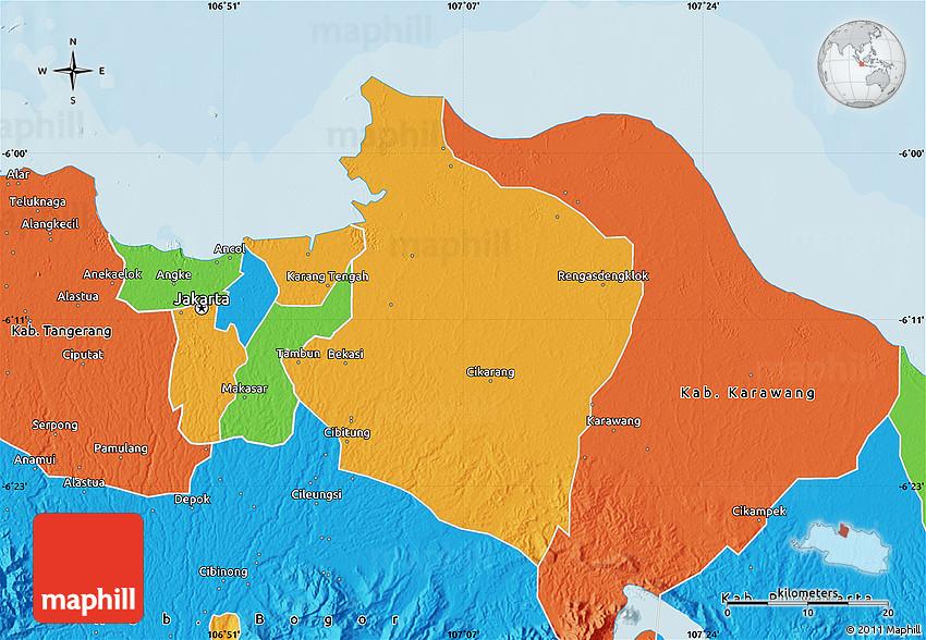 Political Map of Kab Bekasi