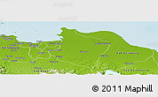 Physical Panoramic Map of Kab. Bekasi