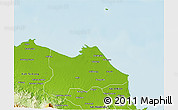 Physical 3D Map of Kab. Indramayu