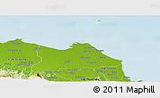 Physical Panoramic Map of Kab. Indramayu
